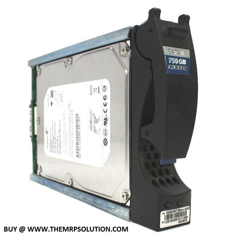 EMC 005048726 750GB SATA DRIVE, CLARIION CX New