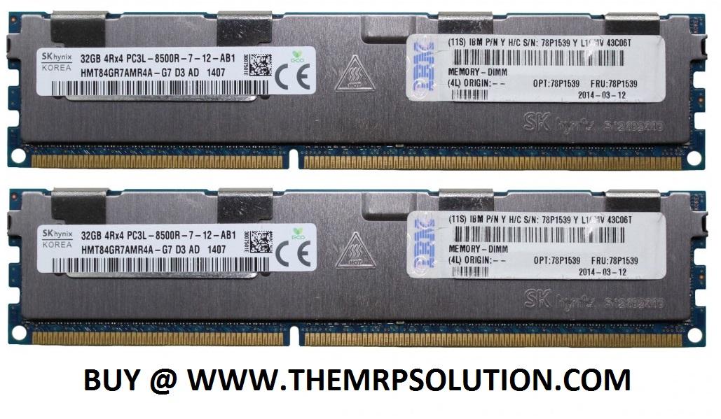 64GB (2X32GB RDIMMS) 4GB DDR3