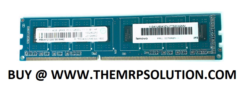 4GB, PC3-12800 DDR3 UDIMM NEW by the MRP Solution
