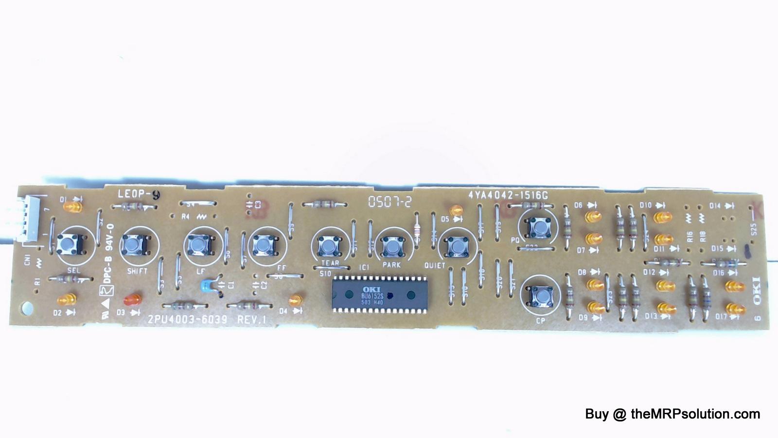OKIDATA 55081107 OP PANEL BOARD, ML420 New