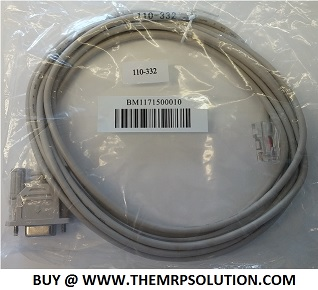 TELEQUIP 110-332 T-FLEX DATA CABLE, DB9-RJ45, 9' New
